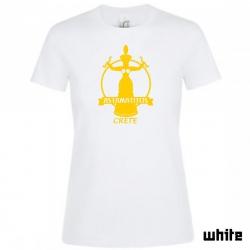 """Astamatitos T-Shirt """"CRETE MINOAN SNAKE"""" Women"""