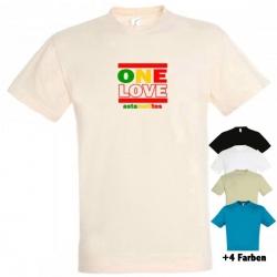 "Astamatitos T-Shirt ""ONE LOVE"" MEN"