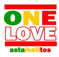 """Astamatitos Hoodie """"ONE LOVE"""" Unisex"""