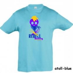 """Astamatitos T-Shirt """"REBELL BOOKING"""" KIDS"""