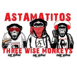 "Astamatitos T-Shirt ""THREE WISE MONKEYS"" MEN"