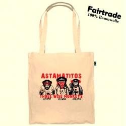 """Fairtrade Baumwolltasche Natur """"THREE WISE MONKEYS"""""""