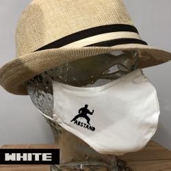 """Premium Baumwoll-Stoffmaske """"ABSTAND"""""""