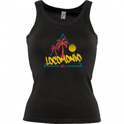 "Locomondo Damentop ""80s"" Women, schwarz, Transferdruck"