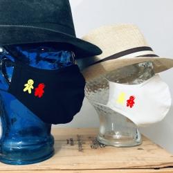 """Premium Baumwoll-Stoffmaske """"LEBKUCHEN-PAAR"""""""
