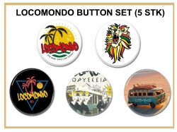 Locomondo Button-SET [5er Pack], rund, 25mm