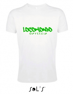 "Locomondo Bandshirt ""ODYSSEIA"" Men, white, Flexdruck 1-Farbig"
