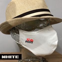 "Premium Baumwoll-Stoffmaske ""NO KISSES"""