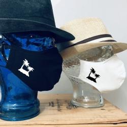 "Premium Baumwoll-Stoffmaske ""PALM ISLAND"""