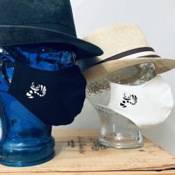 """Premium Baumwoll-Stoffmaske """"STREIFENKATZE"""""""