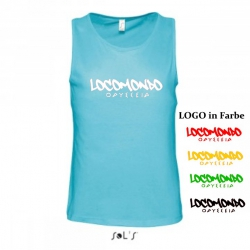 "Locomondo Tank Top ""ODYSSEIA"" Men, Atoll Blue, Flexdruck 1-Farbig"