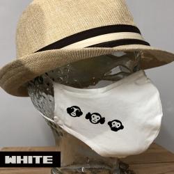 "Premium Baumwoll-Stoffmaske ""THREE-MONKEYS"""