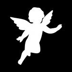 "Premium Baumwoll-Stoffmaske ""ANGELOS"" Engel"
