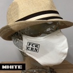 "Premium Baumwoll-Stoffmaske ""FCK CRN"""